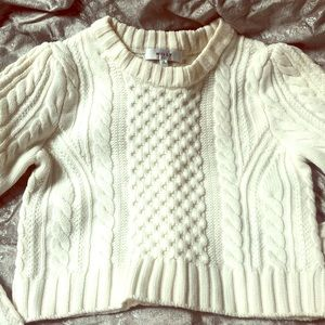 NWOT Milly cable knit cropped sweater - S - $335